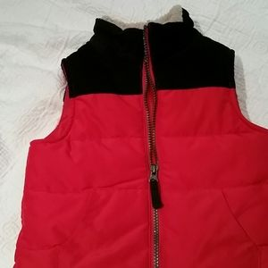 NWOT Carters puffy vest with black cordoroy